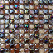Popular brown glass mosaic tile for interior wall DAH080