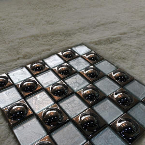 china gold color glass mosaic tile