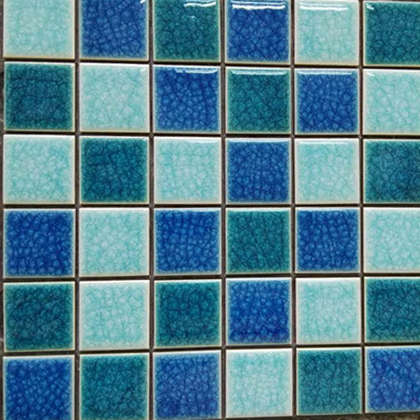 Blue color glazed ceramic swimming pool mosaic tile