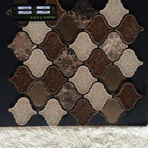 Unique shape sparkle design mosaic ceramic wall tiles