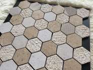 Ceramic porcelain mosaic bathroom floor tiles