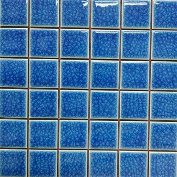 mosaic blue porcelain