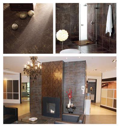 Lappato 600x600 floor tile garden rusty metal decoration