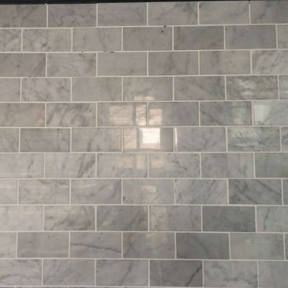 White color natural floor marble mosaic tile