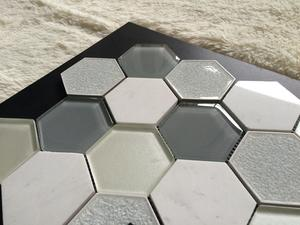 White color spanish design nano glass stone flooring