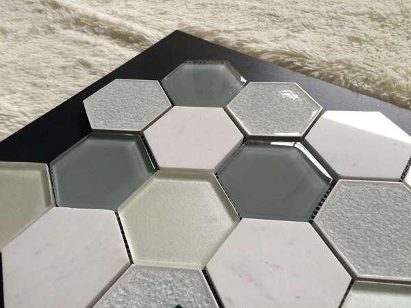 White color spanish design nano glass stone flooring