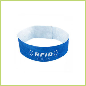disposable tyvek nfc bracelet rfid wristband for festival events
