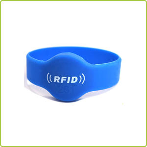 China manufacture circular NFC silicone wristband