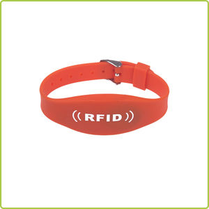 dual frequency waterproof RFID Silicone Wristband with wrist strap watch clasp - PR019