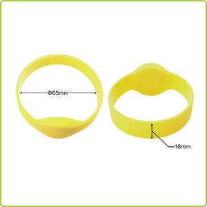 NTAG213 NFC silicone wristband for both adults and teens-PR011