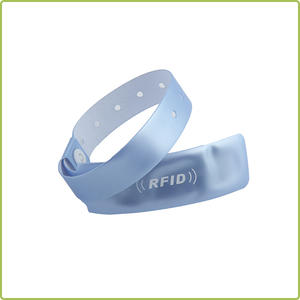 Custom Adjustable RFID PVC Wristband For Hospital Patients Management