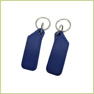 logo printing contactless plastic/leather 125khz rfid keyfob/key fob