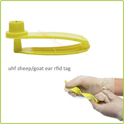 Long Distance UHF 860 MHz-960 MHz Animal Ear RFID Tag