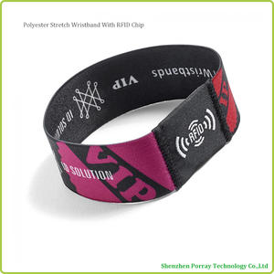 High Quality 13.56mhz NFC Stretch Wristband For Access Control & Security