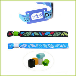 popular nfc fabric wristband tags for  events and festivals