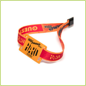 13.56MHz ntag 213 Fabric NFC Wristband for Event