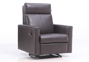 ODM brown leather couch manufacturer make in China.