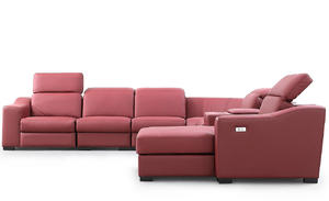 Sectionals 0987 OEM Leather Reclining Sofa