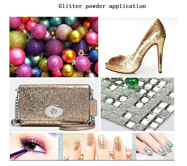 rainbow yellow glitter powder