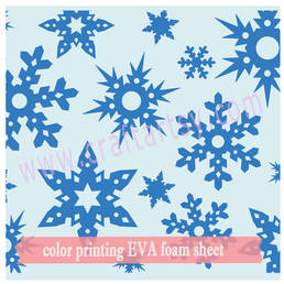craft  EVA foam with printed snowflake pattern