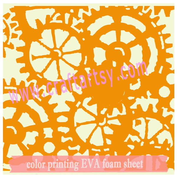 Color printed EVA foam sheet with wheels