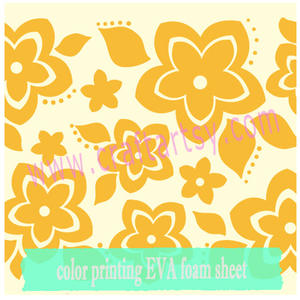 Craft EVA Foam With Print Flower Pattern
