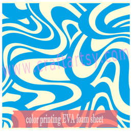 Craft EVA foam met print patroon