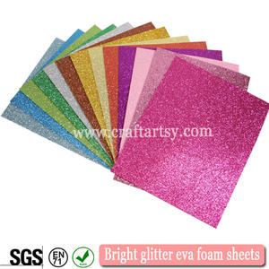 Whole sale high quality Bright glitter eva foam sheets