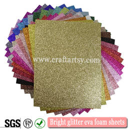 colorful Bright glitter eva foam sheets
