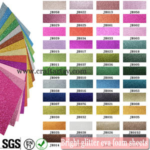 Multi color glitter eva foam / 2mm colorful glitter eva foam sheet/ fashion glitter eva foam