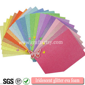High quality Iridescent glitter eva sheets