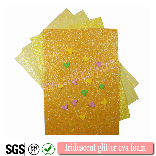 Iridescent glitter eva foam for hand craft material