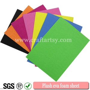 Wholesale for colorful craft Plush foam sheets