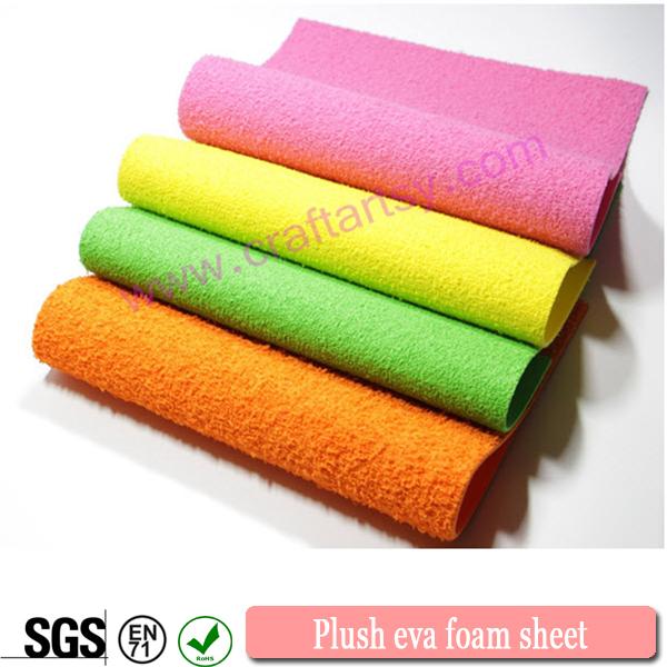 China manufacturer plush eva foam sheets for Soft foam sheets craft