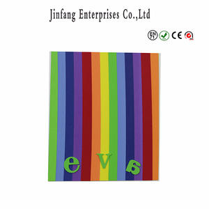 Special Multicolor stripe eva foam sheet with difference thickness/ Christmas kids craft foam
