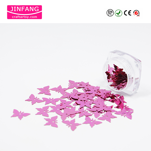 Butterfly shape Metallice PET Glitter Powder