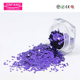Hexagon shape Purple Metallice Glitter Powder