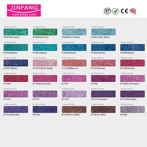 Color chart for Metallic PET Glitter Powder