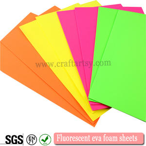 Fluorescent or Neon rubber eva foam sheet for handcraft
