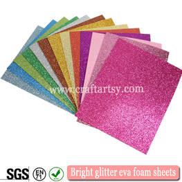China factory direct sale Glitter EVA foam sheet