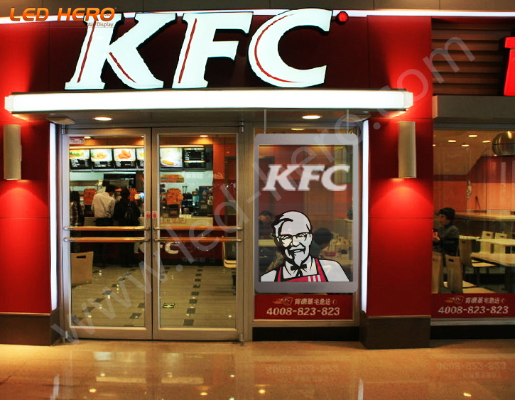 TB Transparent LED Display in Fujian KFC
