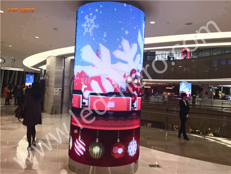 P7.5 transparent led display in Shanghai