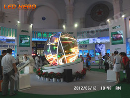 P7.62 flexible led display in Beijing