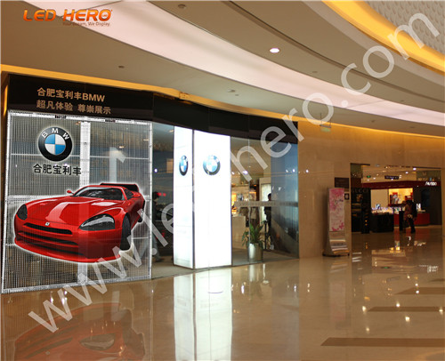 TW P10 transparent led display in Hefei