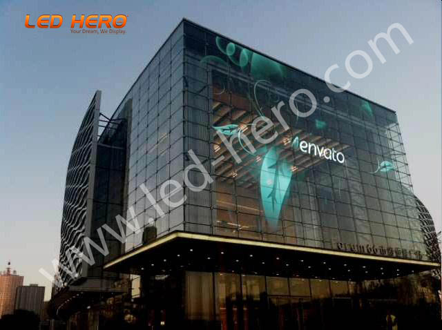 TW P16 transparent led display in Wuhan
