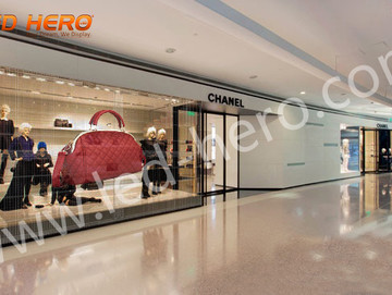TW P16 transparent led display in Chanel