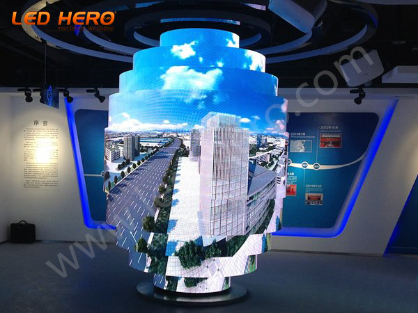 P4 flexible led display in Anhui