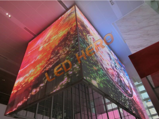 LED-HERO's transparent LED display settled in Shanghai UOB