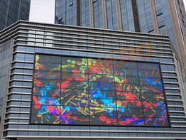Global Center TW led glass wall