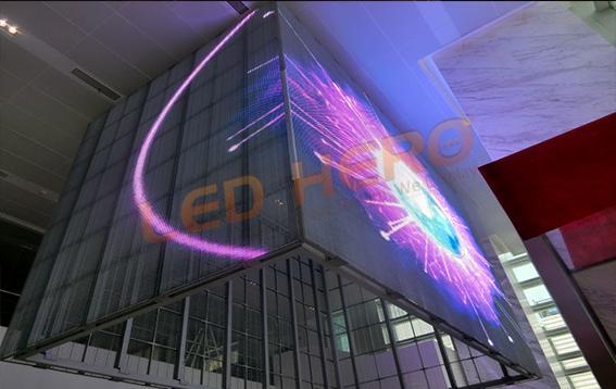 Transparent LED Screens for Shanghai Guangda Bank